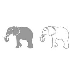 Elephant it is black icon vector