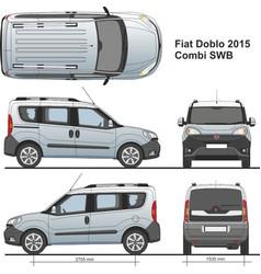 Fiat doblo combi swb 2015 vector
