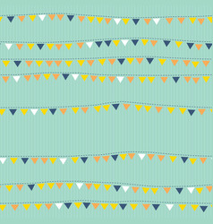 Flags on string seamless pattern bunting vector