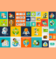 flat design elements web design elements vector image vector image