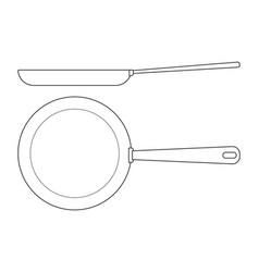 frying pan icon kitchenware vector image vector image