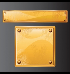 golden plate vector image