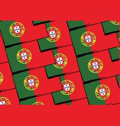 Grunge portugal flag or banner vector