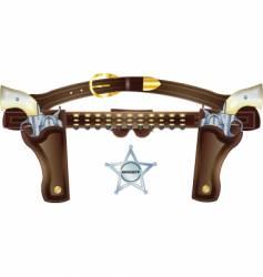 Gun pearl handles vector