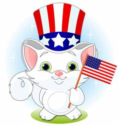 independence day cat vector image vector image