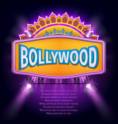 indian bollywood cinema sign board vector image vector image