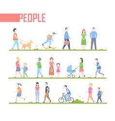 People - set of cartoon flat design style vector