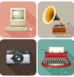 Retro objects vector