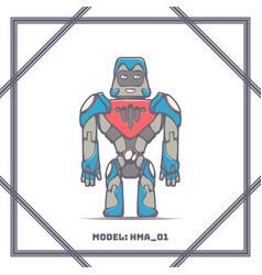 robot mode number hma 01 vector image