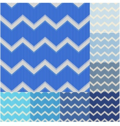 Seamless blue colors chevron pattern vector image