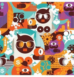 Seamless pattern with modern vector