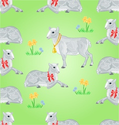 Seamless texture easter lamb and sheeps vector