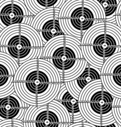 seamless wallpaper black target vector image vector image