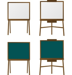 set of easels second variant vector image vector image