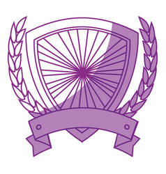 shield frame icon vector image