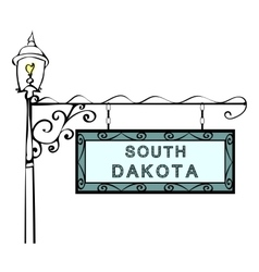 South dakota retro pointer lamppost vector