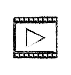 Strip film play cinema movie symbol sketch vector