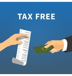 Tax refund exchange a check for the money flat vector