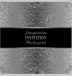 Vintage baroque wedding invitation template vector