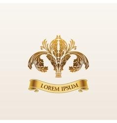 Vintage luxury gold emblem Elegant vector image vector image