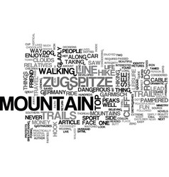 Where i draw the line the zugspitze text word vector
