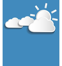 white clouds with sun vector image vector image