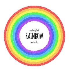 Rainbow circle element vector