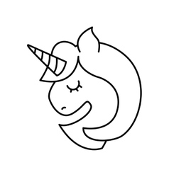 Cute fantasy unicorn icon vector image