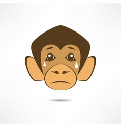 Crying monkey vector