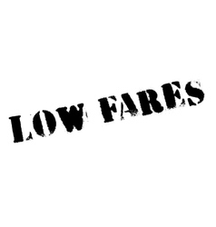 Low fares rubber stamp vector