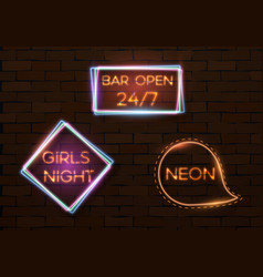 vintage neon banner template vector image