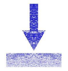Move bottom grunge textured icon vector