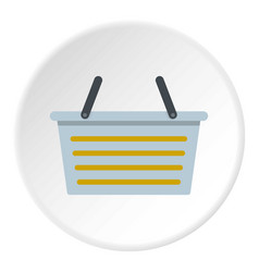 Flasket for dirty washing icon circle vector