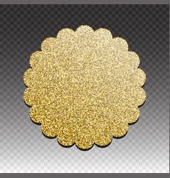 Premium quality golden label over white background vector