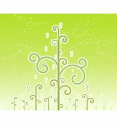 swirly magic trees background vector image