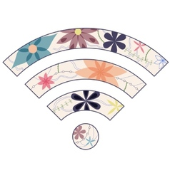 Vintage wi fi sign vector image