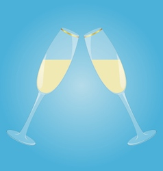 Two glasses with sparkling wine vector