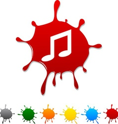 Music blot vector