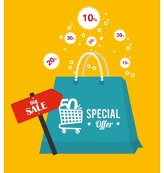 Shopping and sales festival vector
