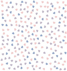 Heart seamless pattern Rose quartz and serenity vector image