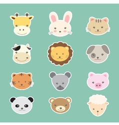 Animal cute cartoon vector