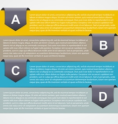 Abstract paper infographic Modern design template vector image