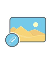 Attache image photo photography picture send icon vector