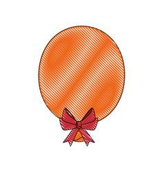 Balloon bow globe vector