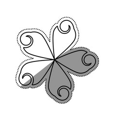 Beautiful flower symbol vector