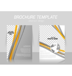 Brochure with lines vector