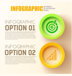 business options infographic concept vector image vector image
