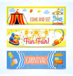 Carnival banners horizontal vector image vector image