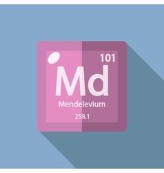 Chemical element mendelevium flat vector