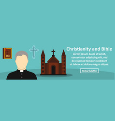 Christianity and bible banner horizontal concept vector
